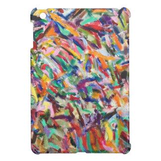 Multicolored brush marks iPad mini covers