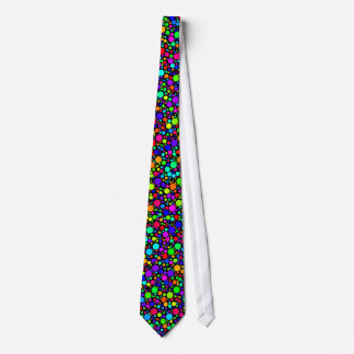 Multicolored Bubble Dots Tie (Black)