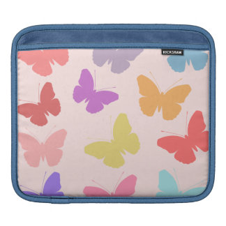 Multicolored Butterflies Design iPad Sleeve