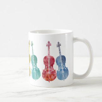 Multicolored Cellos Basic White Mug