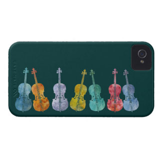 Multicolored Cellos Case-Mate iPhone 4 Case