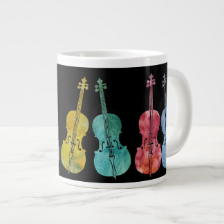 Multicolored Cellos Large Coffee Mug