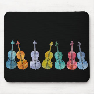 Multicolored Cellos Mouse Mat