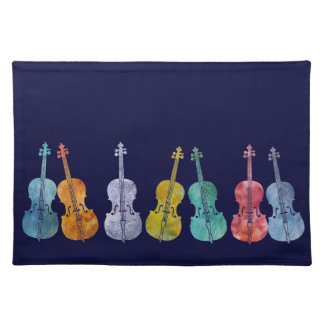 Multicolored Cellos Placemat