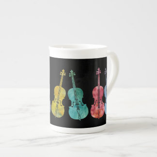 Multicolored Cellos Tea Cup