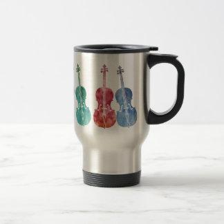 Multicolored Cellos Travel Mug