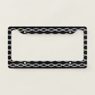 Multicolored Chain-Like Pattern (Black Background)