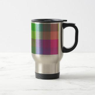 Multicolored Checker Design Stainless Steel Travel Mug