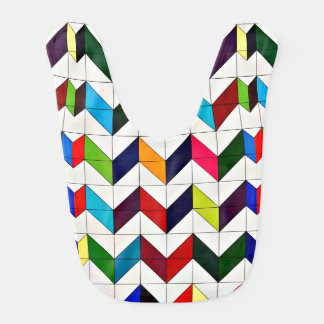 Multicolored Chevron Pattern Bib