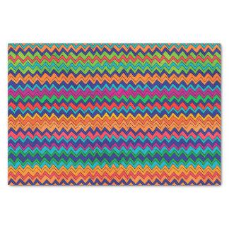Multicolored Chevron Pattern Tissue Paper