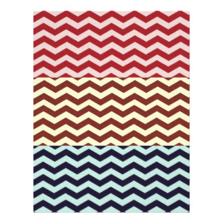 Multicolored Chevron Pattern. Zigzag Design Custom Flyer