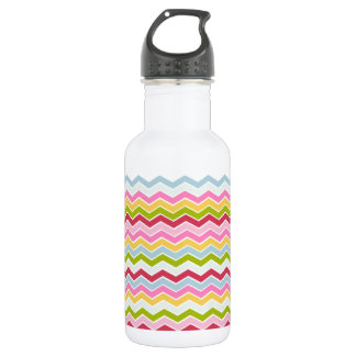Multicolored chevron zigzag 532 ml water bottle