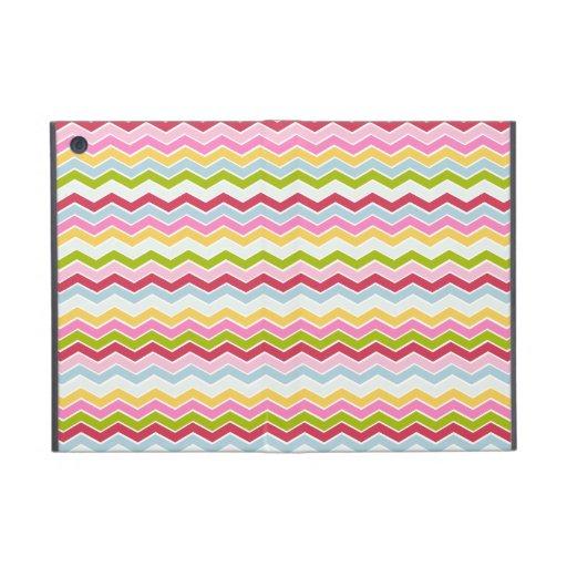 Multicolored chevron zigzag iPad mini covers