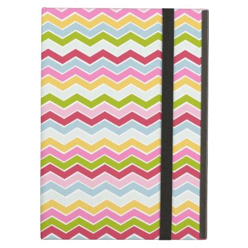 Multicolored chevron zigzag iPad case