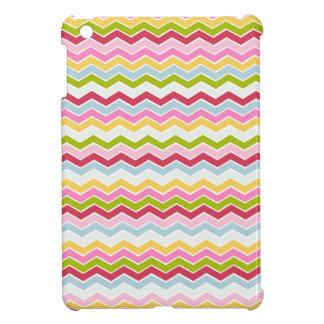 Multicolored chevron zigzag iPad mini cover