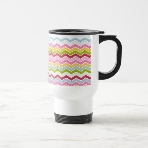 Multicolored chevron zigzag coffee mugs
