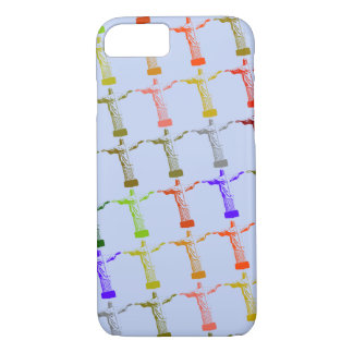 multicolored Christ pattern iPhone 7 Case