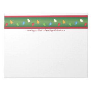 Multicolored Christmas Lights Holiday Notepad