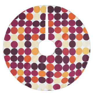 Multicolored Circles Brushed Polyester Tree Skirt