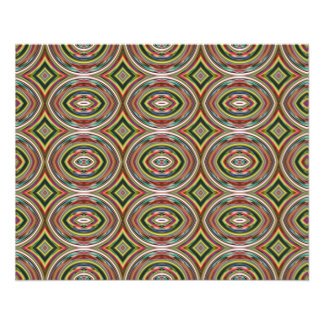 Multicolored Circles. Geometric Pattern 11.5 Cm X 14 Cm Flyer