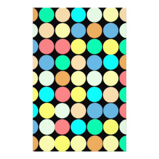 Multicolored Circles. Geometric Pattern Flyer
