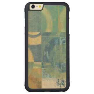 Multicolored Circles & Panels Carved® Maple iPhone 6 Plus Bumper Case