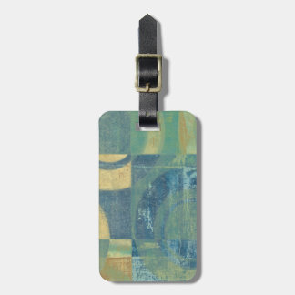 Multicolored Circles & Panels Luggage Tag