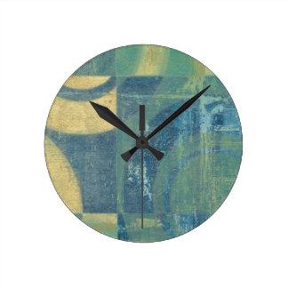 Multicolored Circles & Panels Wall Clocks