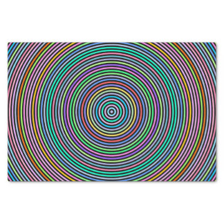 Multicolored Circles/Rings Pattern Tissue Paper