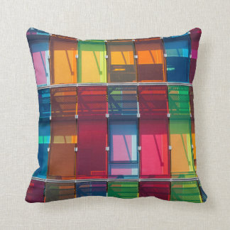 Multicolored commercial building detail cushion