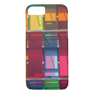 Multicolored commercial building detail iPhone 8/7 case