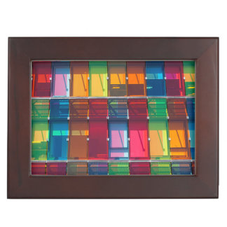 Multicolored commercial building detail keepsake box