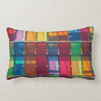 Multicolored commercial building detail lumbar cushion