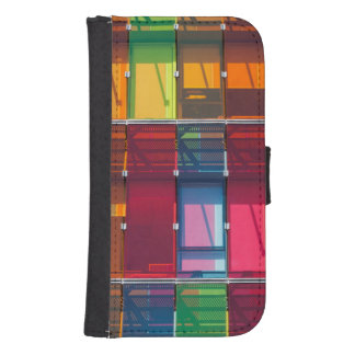 Multicolored commercial building detail samsung s4 wallet case