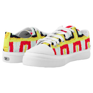 multicolored cool pattern abstract low tops