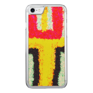 multicolored cool pattern carved iPhone 8/7 case