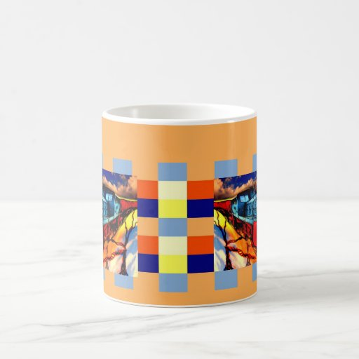 Multicolored course coffee mug