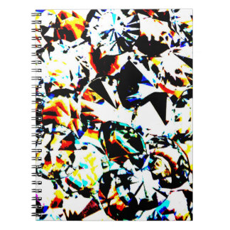 Multicolored Crystal Diamond Spiral Journal Spiral Note Book