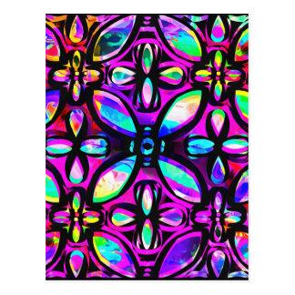 Multicolored Crystals Postcard