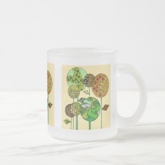 Multicolored cup with abstract flower Design