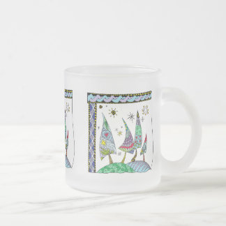 Multicolored cup with abstract motive for