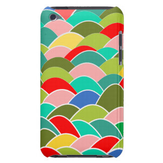 Multicolored curves fish scale pattern iPod touch Case-Mate case