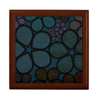 Multicolored Dark Modern Floral Tile Gift Box