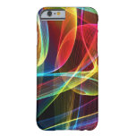 Multicolored Digital Ribbons Pattern Barely There iPhone 6 Case