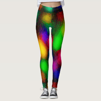 Multicolored Ditzy Circles Leggings