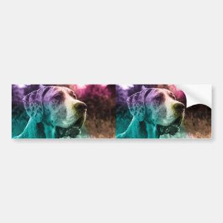 Multicolored Dogge sticker Bumper Sticker
