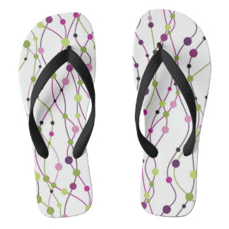 Multicolored dot background flip flops
