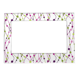 Multicolored dot background frame magnet