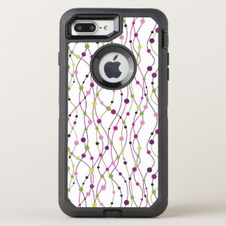 Multicolored dot background OtterBox defender iPhone 8 plus/7 plus case