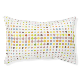 Multicolored dot background pet bed